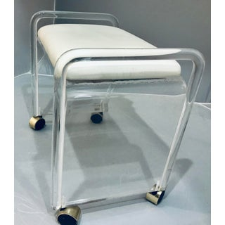1970s Vintage Hill Manufacture Vintage Lucite Stool Bench Preview