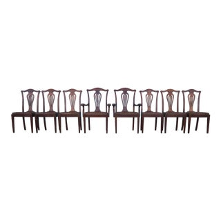 Antique Mahogany Dining Chairs - Set of 8 For Sale