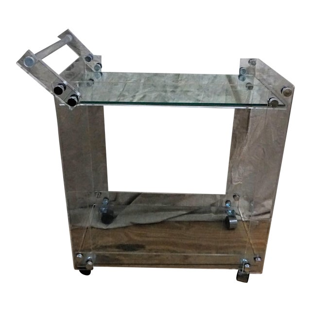 Lucite Bar Cart - Image 1 of 5