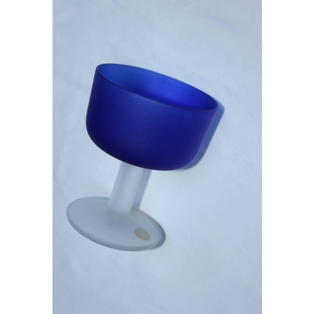 12 Italian Glass Goblets For Sale - Image 9 of 11