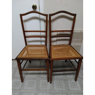 Cane Seat Wood Chairs - A Pair Preview