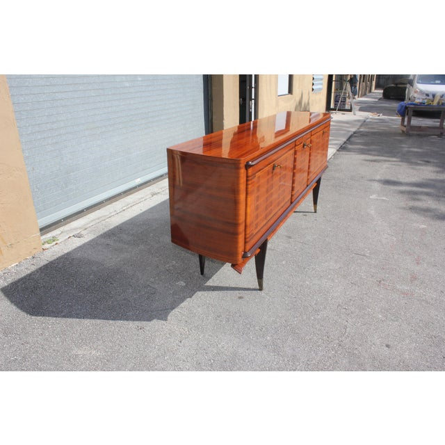 Beautiful French Art Deco Exotic Macassar Ebony Sideboard / Buffet / Bar, circa 1940s. the sideboard are in very good...