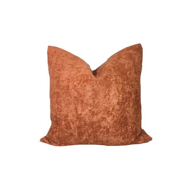 """Adirondack 20"""" Cognac Textured Linen Pillow Cover For Sale - Image 3 of 3"""
