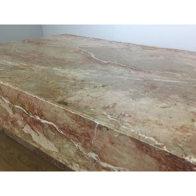 Substantial Rectangular Marble Cocktail Table For Sale In Atlanta - Image 6 of 7