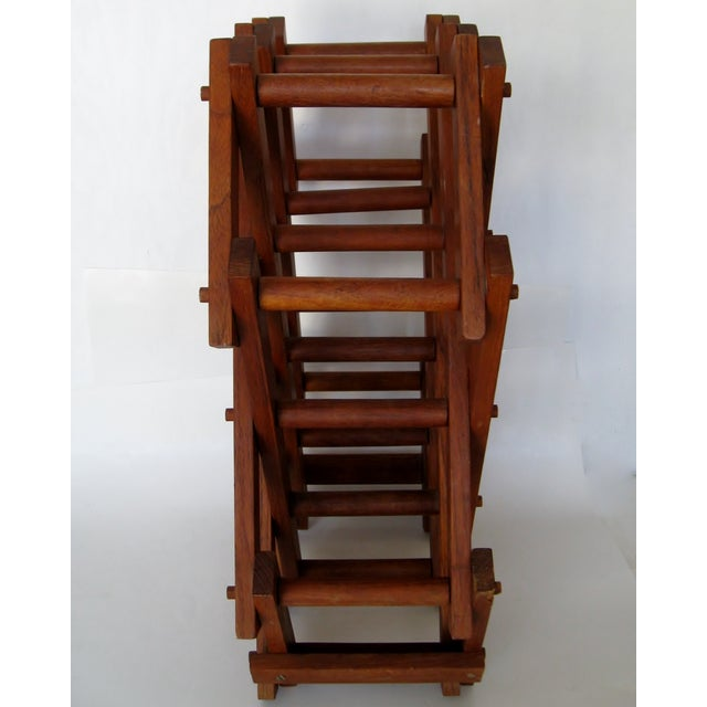 Teak Wood Wine Rack - Image 4 of 4