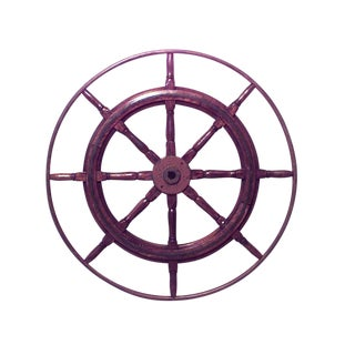 19th Century Wooden Ship Wheel For Sale