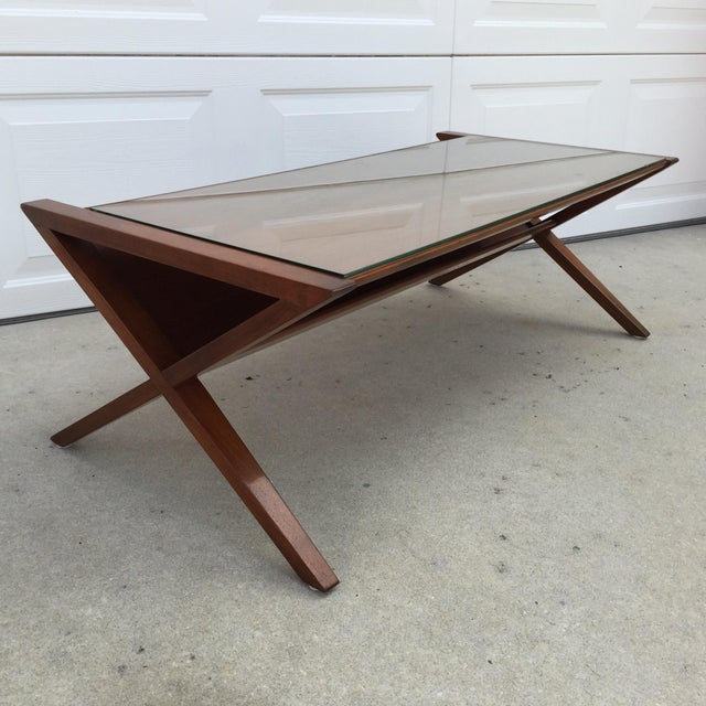 John Van Koert Walnut Coffee Table - Image 2 of 11