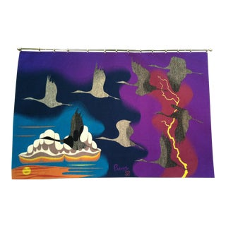 1982 Vintage Tapestry Hand Woven by Pedro Preux For Sale