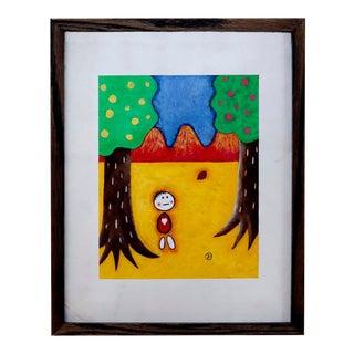 Graphic Yoshihiro Ueda Gouache For Sale