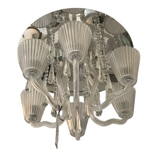 Mirror and Glass Corato Flush Mount Lighting For Sale