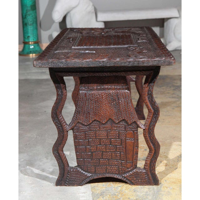 Wood African Coffee Table For Sale - Image 7 of 8