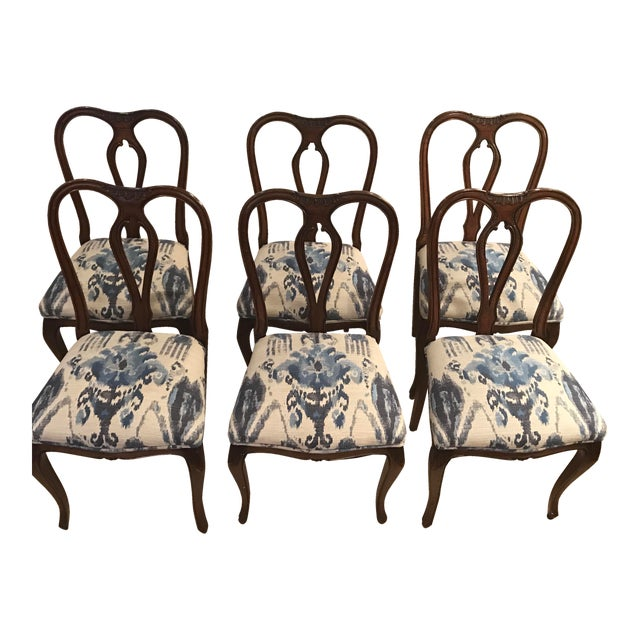 Antique French Dining Chairs - Set of 6 - Image 1 of 5