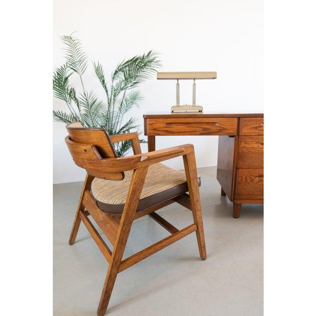 Mid-Century Modern Mid-Century Modern Solid Walnut Chair by Gunlocke For Sale - Image 3 of 9