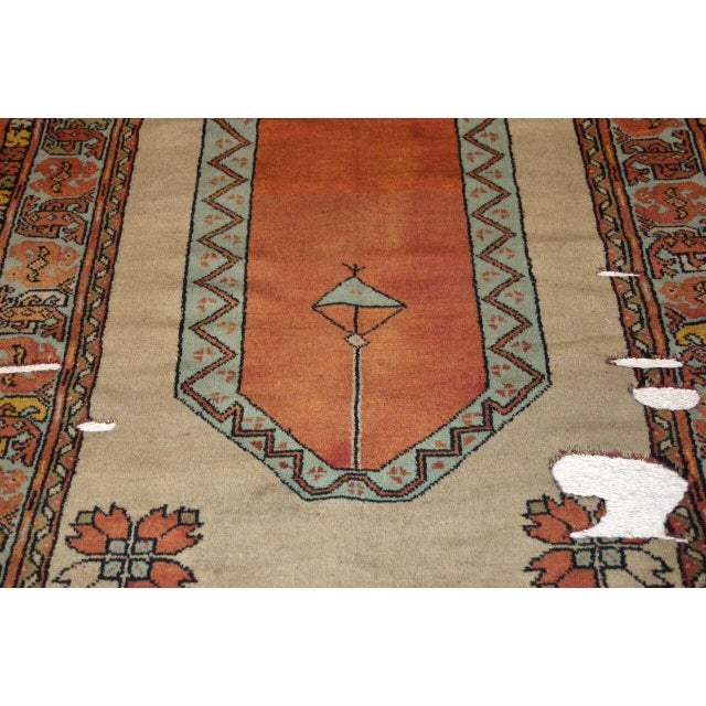 Estimate Retail Price: $2790. Fabulous handwoven wool and linen rug. Features orange and white colors. Packaging...