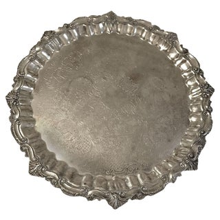 Vintage Silver Tray For Sale