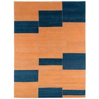Contemporary Original Design 'Terrain' Wool Area Rug - 9′ × 12′ For Sale