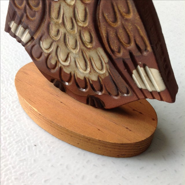 Mid-Century Modern Studio Pottery Owl Sculpture - Image 9 of 9