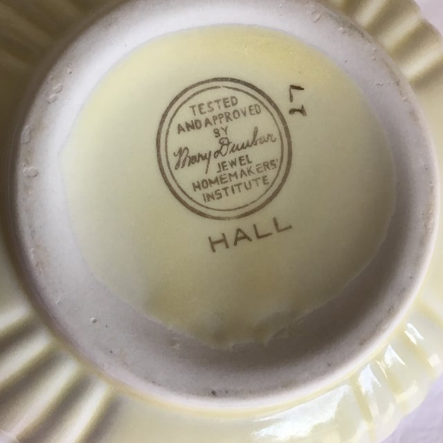 Vintage Hall Pottery Ceramic Bowl For Sale - Image 5 of 7