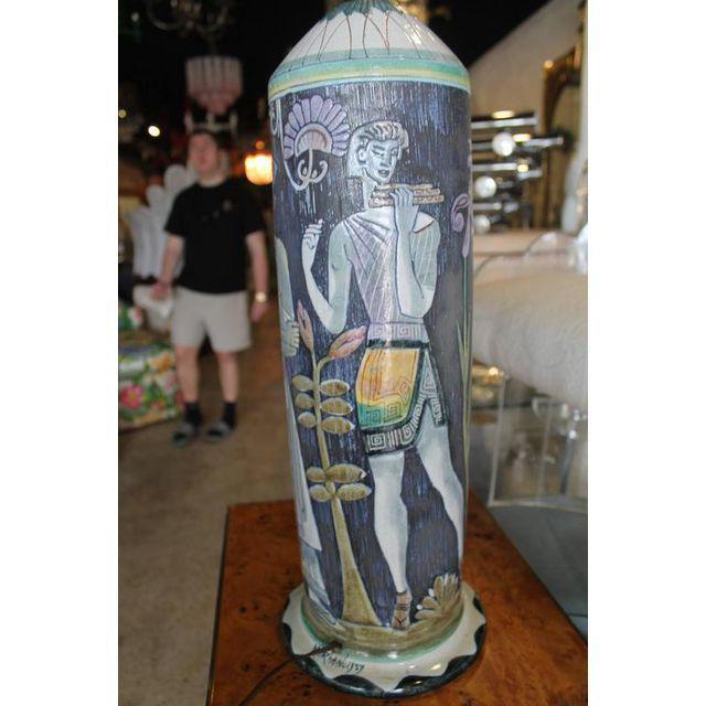 Marian Zawadsky for Tilgman Keramik Vintage Sweden Table Lamp For Sale - Image 4 of 11
