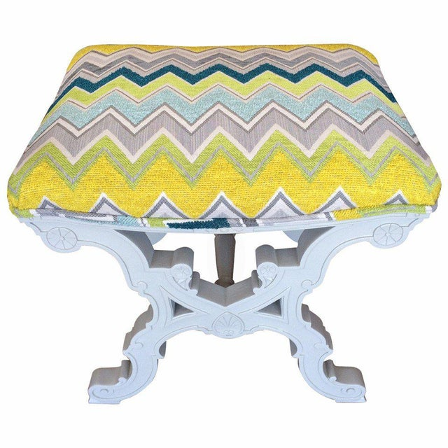 Contemporary Nathan Turner Zig Zag Stool For Sale - Image 3 of 3