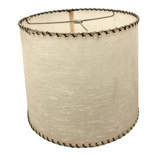 Vintage Mid Century Modern Beige Fiberglass Lamp Shade For Sale