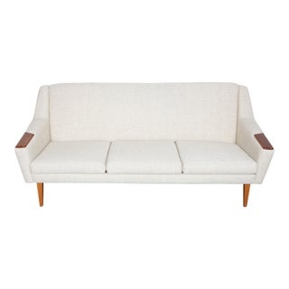 Danish Mid-Century Modern Fabric Sofa