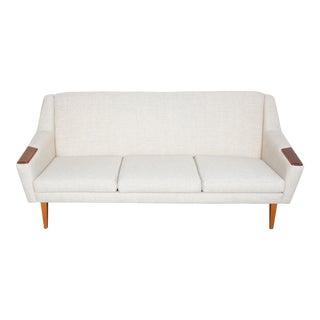 Danish Mid-Century Modern Fabric Sofa