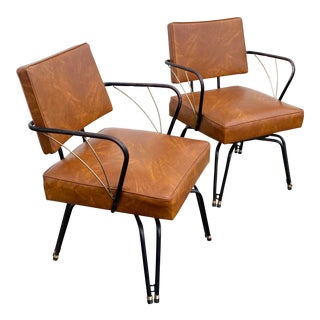 1950s Viko Swivel Chairs - a Pair For Sale
