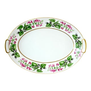 1940s Pink & Green Floral Tray
