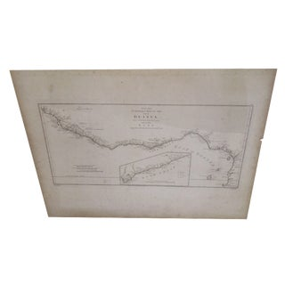 """Gold Coast"", Vintage Gulf of Guinea Map"