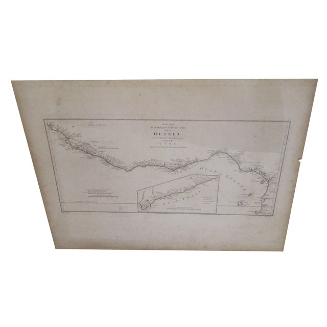"""""""Gold Coast"""", Vintage Gulf of Guinea Map For Sale"""