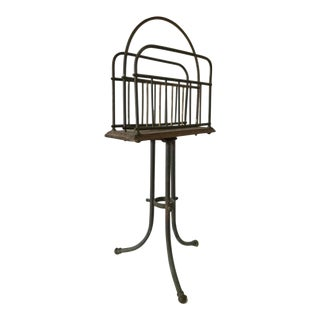 Antique Magazine Rack Arts and Crafts For Sale