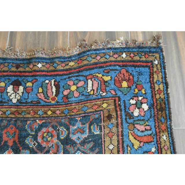 Antique Persian Hand Woven Runner- 3′10″ × 9′7″ - Image 9 of 11