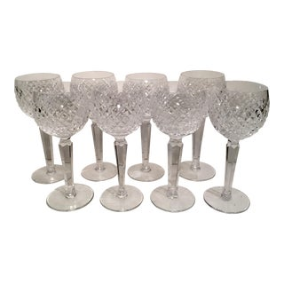 Waterford Alana Hock Wine Glasses - Set of 8 For Sale