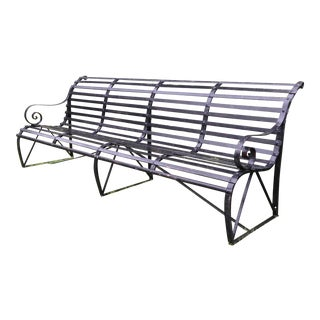 Victorian Black Iron Park Bench