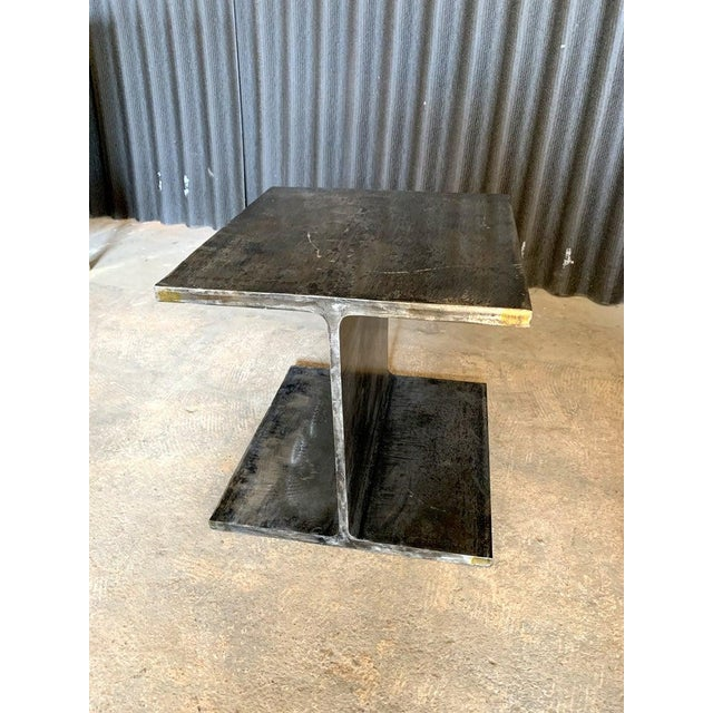 1970s 1970s Ward Bennett Steel I Beam Occasional Table For Sale - Image 5 of 9