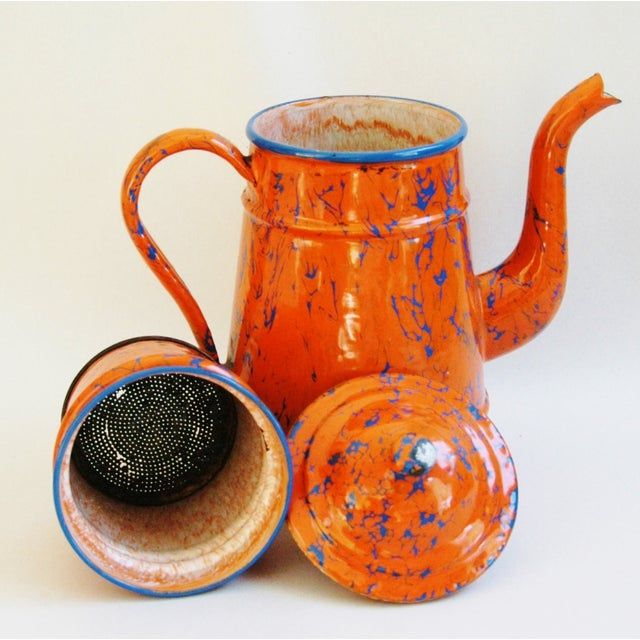 1940s French Marbleized Enameled Coffeepot - Image 7 of 7