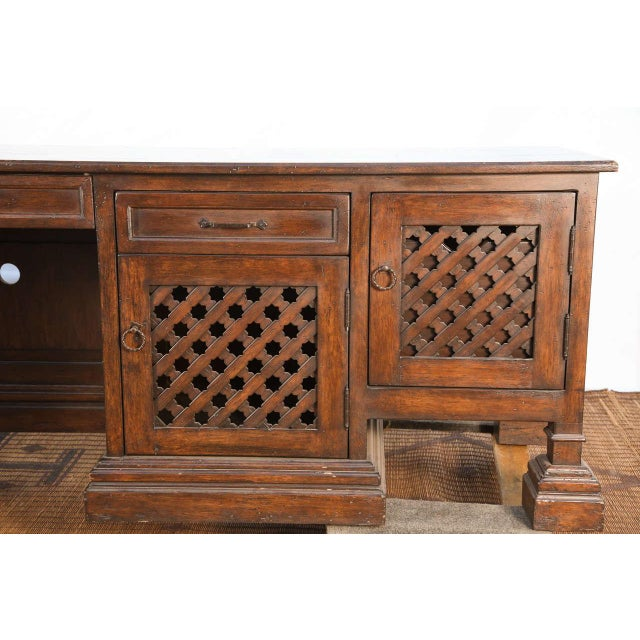 Mid Century Moroccan Handcrafted Decorative Desk For Sale - Image 4 of 10