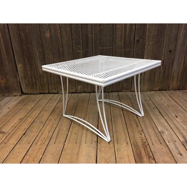 Mid Century Modern White Homecrest Side Table - Image 10 of 11