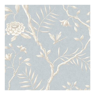 Lewis & Wood Jasper Peony Cirrus Botanic Style Wallpaper Sample For Sale