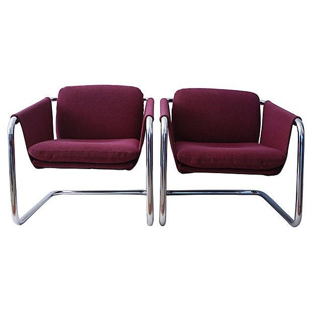 1980s Postmodern Cantilevered Chairs - A Pair - Image 4 of 10