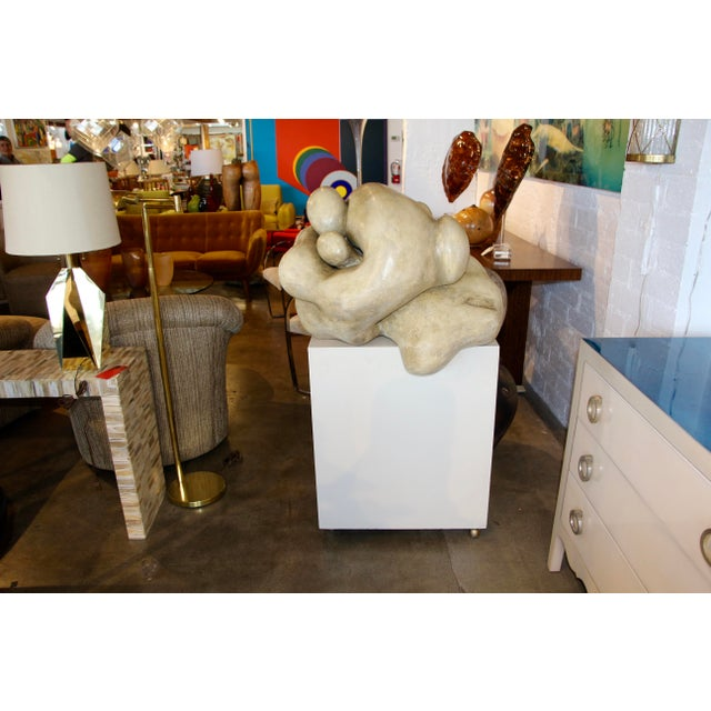 1950s Plaster Figurative Sculpture Purchased at a Nyc Gallery For Sale - Image 10 of 10