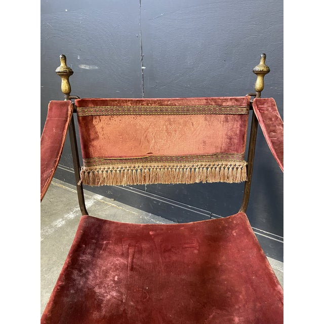 Early 19th Century 19th Century Italian Campaign Curule Chairs - a Pair For Sale - Image 5 of 11