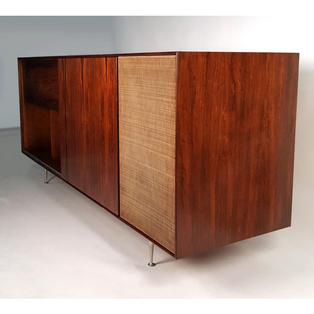 Herman Miller George Nelson Brazilian Rosewood Thin Edge Stereo Cabinet For Sale - Image 4 of 11