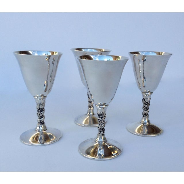 """F.B. Rogers Silver Co. Vintage Silver Plate Spanish """"Valerio"""" Drinks Server Ware- Set of 12 For Sale - Image 4 of 11"""