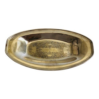 Vintage Silver Plated Bread Tray For Sale