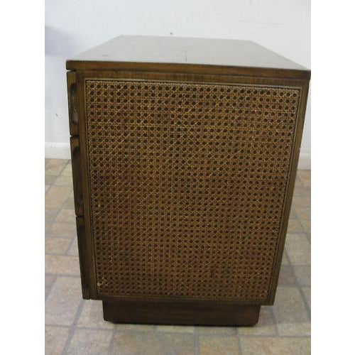 Edward Wormley Directional Danish Modern Woven Cain Dresser For Sale - Image 5 of 7