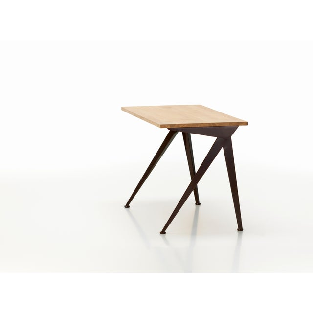 Jean Prouvé Compas Direction Desk in Natural Oak and Black Metal for Vitra For Sale In Los Angeles - Image 6 of 9
