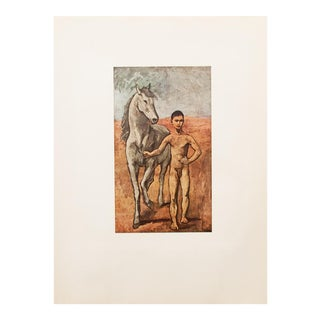 "1950s Picasso, Original ""Boy Leading a Horse"" Period Lithograph For Sale"