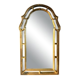 Vintage Hollywood Regency French Style Gilt Mirror For Sale